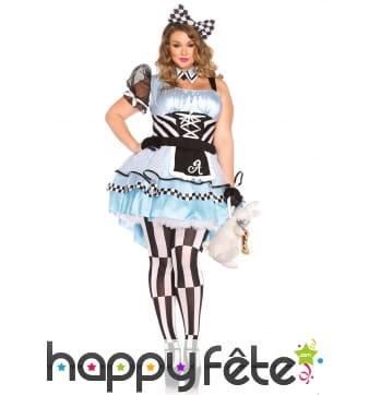 Déguisement robe de Alice grande taille