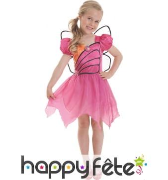 Déguisement robe de Barbie Mariposa pour fillette