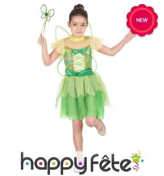 Déguisement robe de fée clochette pour enfant