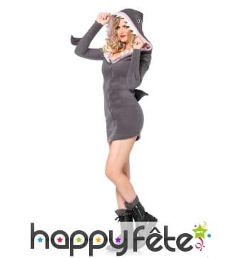 Déguisement robe de femme requin avec capuche