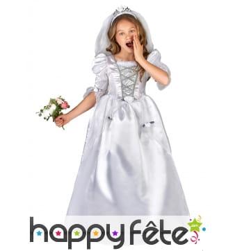 Déguisement robe de mariée pour petite fille