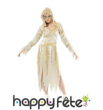 Déguisement robe de momie élégante pour femme