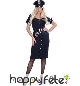 Déguisement robe de policière bleu marine
