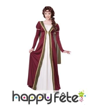 Déguisement robe de princesse médiévale