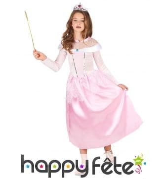 Déguisement robe de princesse rose pour enfant
