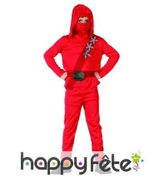 Déguisement rouge de ninja pour enfant