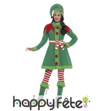 Déguisement robe Elf de Noël pour femme