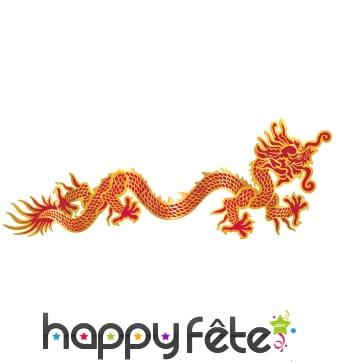 Dragon rouge et doré décoratif, mural