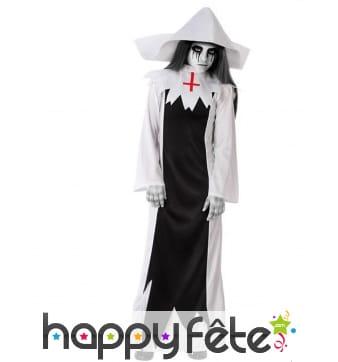 Déguisement religieuse fantome pour enfant