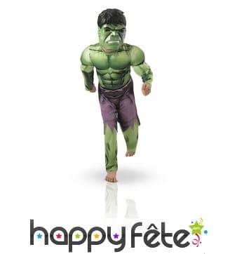Déguisement rembourré Hulk pour enfant