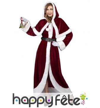 Déguisement robe luxe de Mère Noël