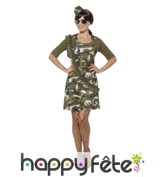 Déguisement robe militaire camouflage