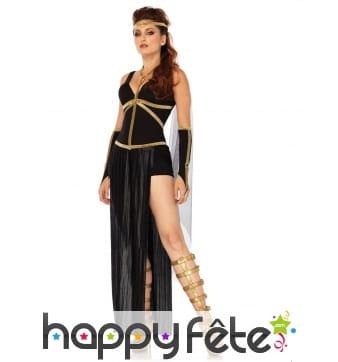 Déguisement robe noire dorée grecque
