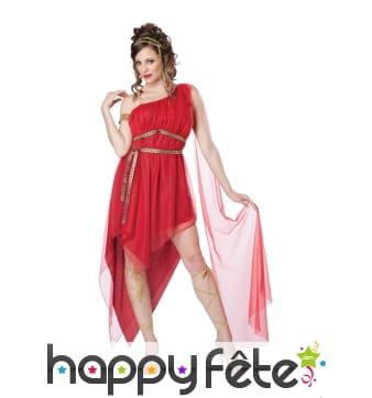 Déguisement robe rouge de romaine