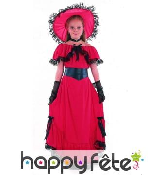 Déguisemet robe rouge de Scarlett pour enfant