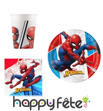 Déco Spiderman compostable pour anniversaire