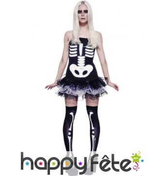 Déguisement squelette corset