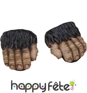 Demi sur-chaussures de gorille pour adulte
