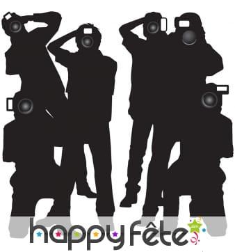 Déco silhouette de Paparazzis en noir et blanc