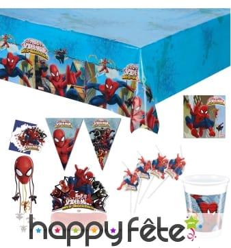 Décoration Spiderman d'anniversaire