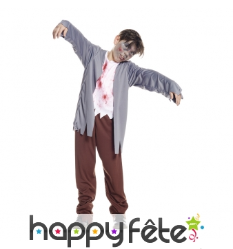 Déguisement simple de zombie pour garçon