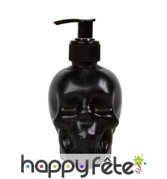 Distributeur savon en forme de tête de mort noir