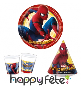 Décos Spiderman Homecoming de table d'anniversaire