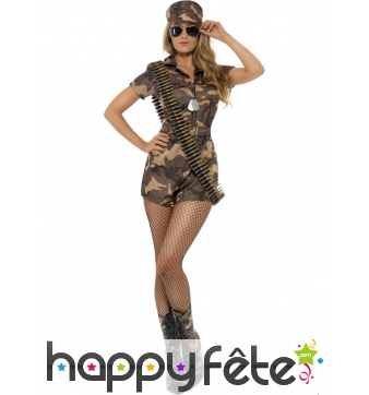 Déguisement sexy militaire femme sexy