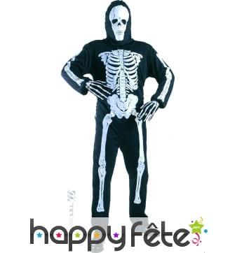 Déguisement squelette noir