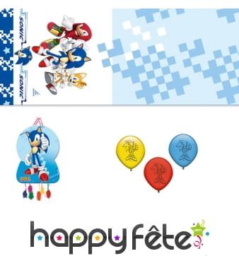 Décoration Sonic pour anniversaire