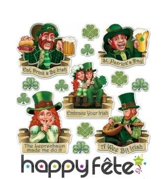 Décorations Saint Patrick en carton, 8 à 37 cm