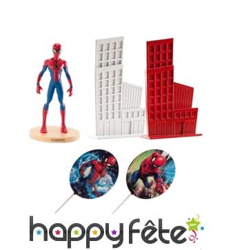 Décorations Spiderman pour gâteau, 8 cm