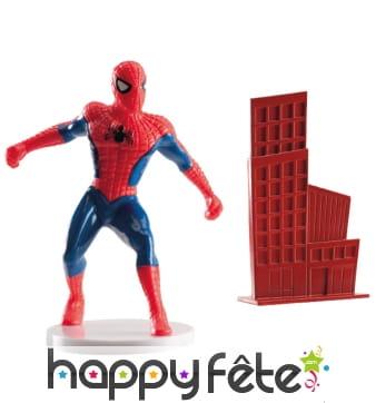 Décorations Spiderman pour gâteau. PVC