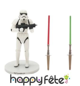 Décorations Stormtrooper pour gâteau, en PVC