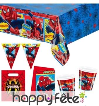 Décos Spiderman pour anniversaire