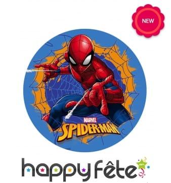 Disque Spiderman pour gateau, en azyme 20cm