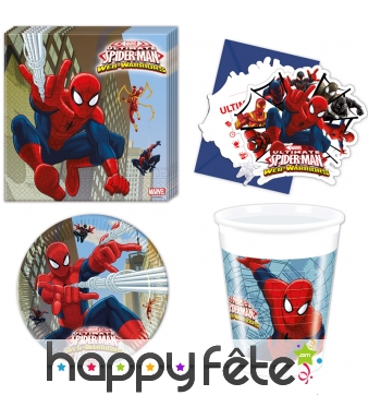 Décorations spiderman web warriors d'anniversaire