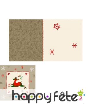 Décoration table de Noël motifs écossais