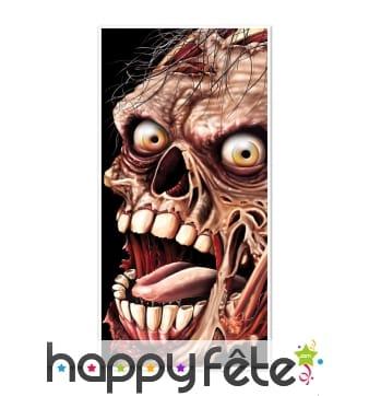 Décoration tête de zombie pour porte