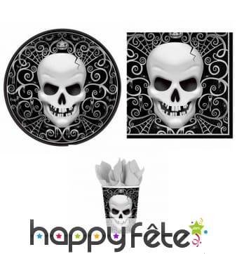 Décorations Tête De Mort pour table d'halloween