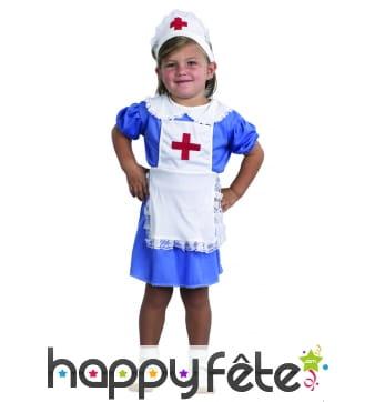 Déguisement tablier d'infirmière pour petite fille