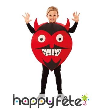 Déguisement tête de diable émoticone pour enfant
