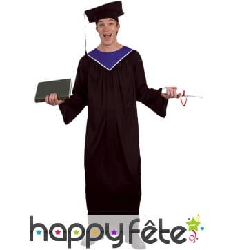 Déguisement toge de diplomé pour homme