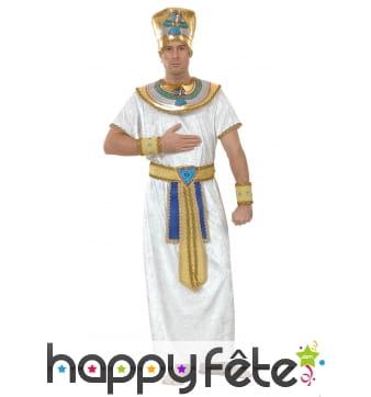 Déguisement tunique de pharaon blanche et dorée