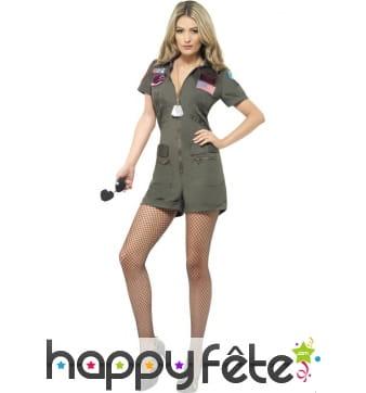 Deguisement top gun pour femme pilote