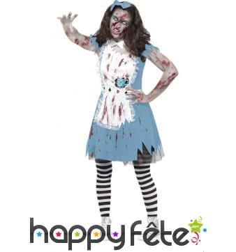 Déguisement tea party zombie adolescente