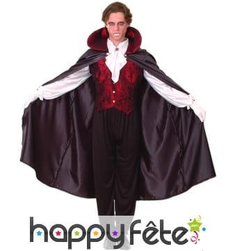 Déguisement vampire avec cape pour homme