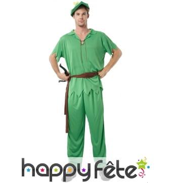 Déguisement vert de Peter Pan pour adulte