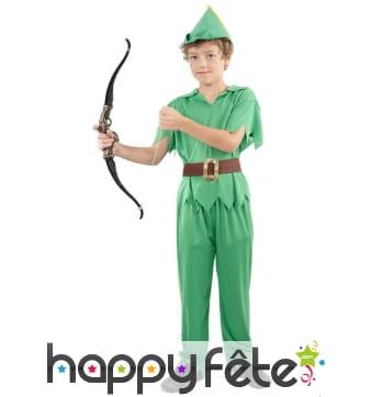 Déguisement vert de Peter pour enfant