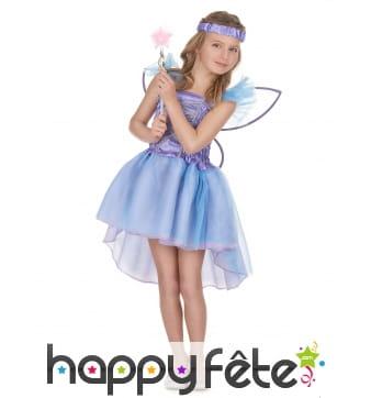 Déguisement violet de petite fée pour enfant